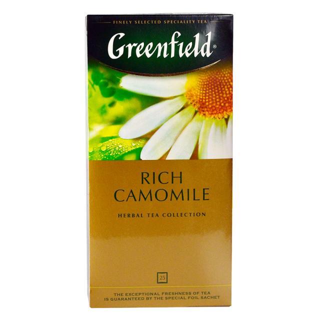 Чай GreenField Чай Rich Camomile травяной 25 пакетиков. Оптом и в розницу MAS HoReCa