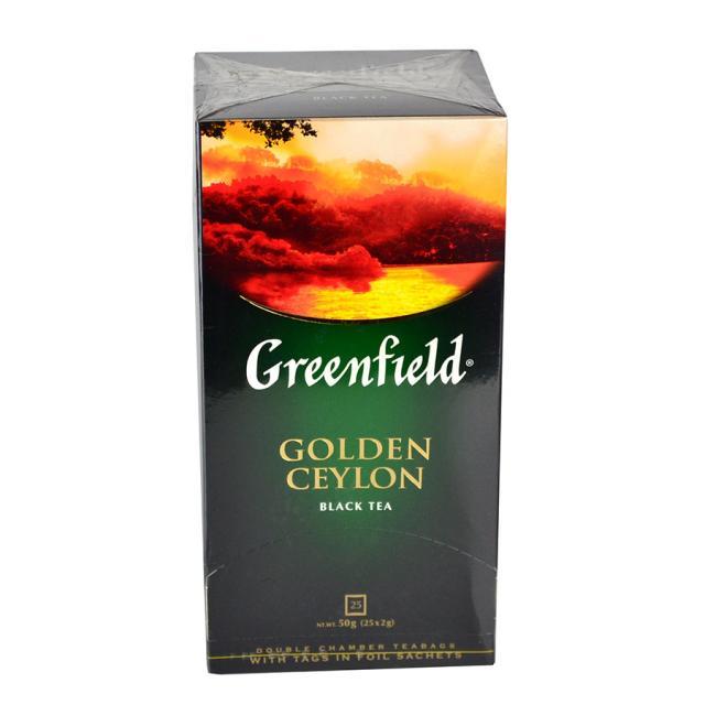 Чай GreenField Чай Golden Ceylon черный 25 пакетиков. Оптом и в розницу MAS HoReCa
