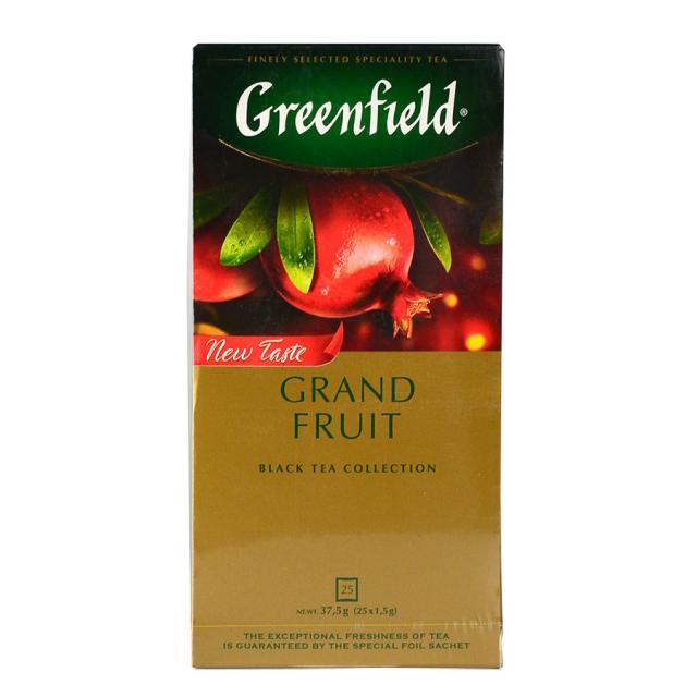 Чай GreenField Чай Grand Fruit черный байховый 25 пакетиков. Оптом и в розницу MAS HoReCa