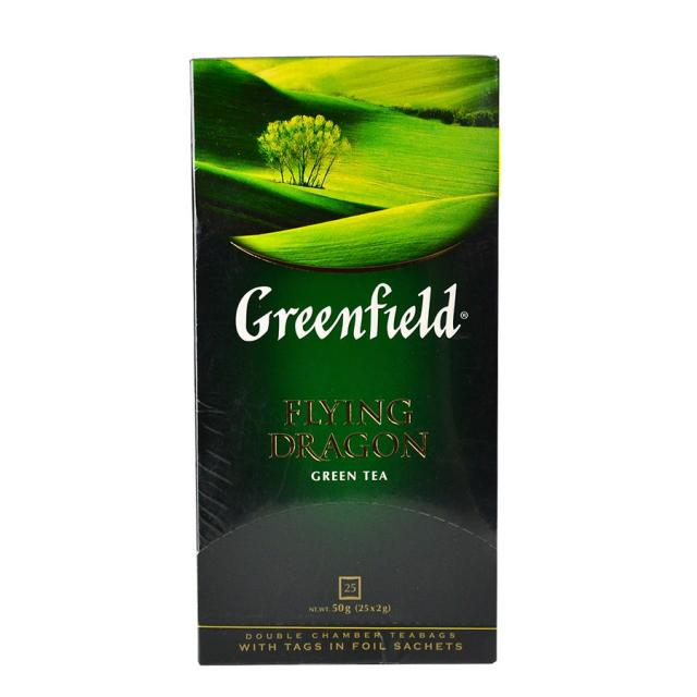 Чай GreenField Чай Flying Dragon зеленый 25 пакетиков. Оптом и в розницу MAS HoReCa