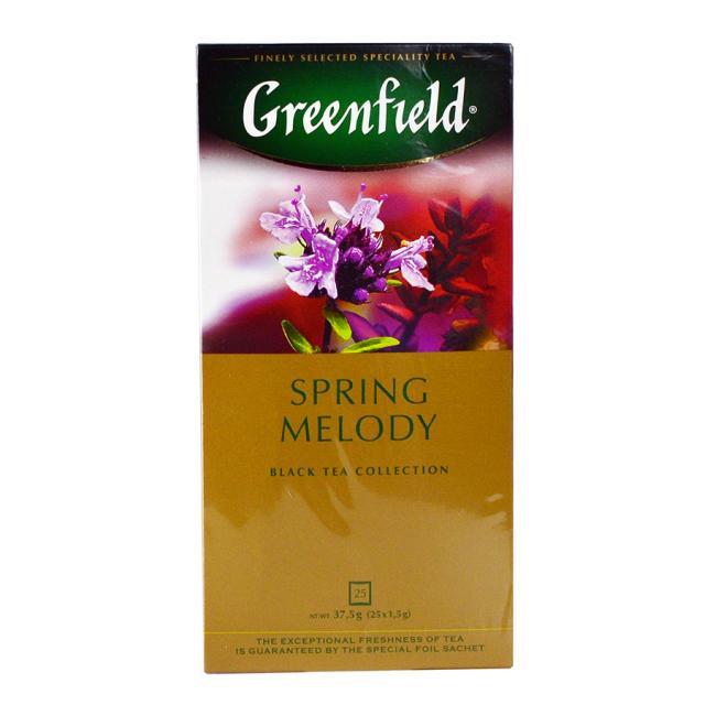 Чай GreenField Чай Spring Melody черный с чабрецом 25 пакетиков. Оптом и в розницу MAS HoReCa